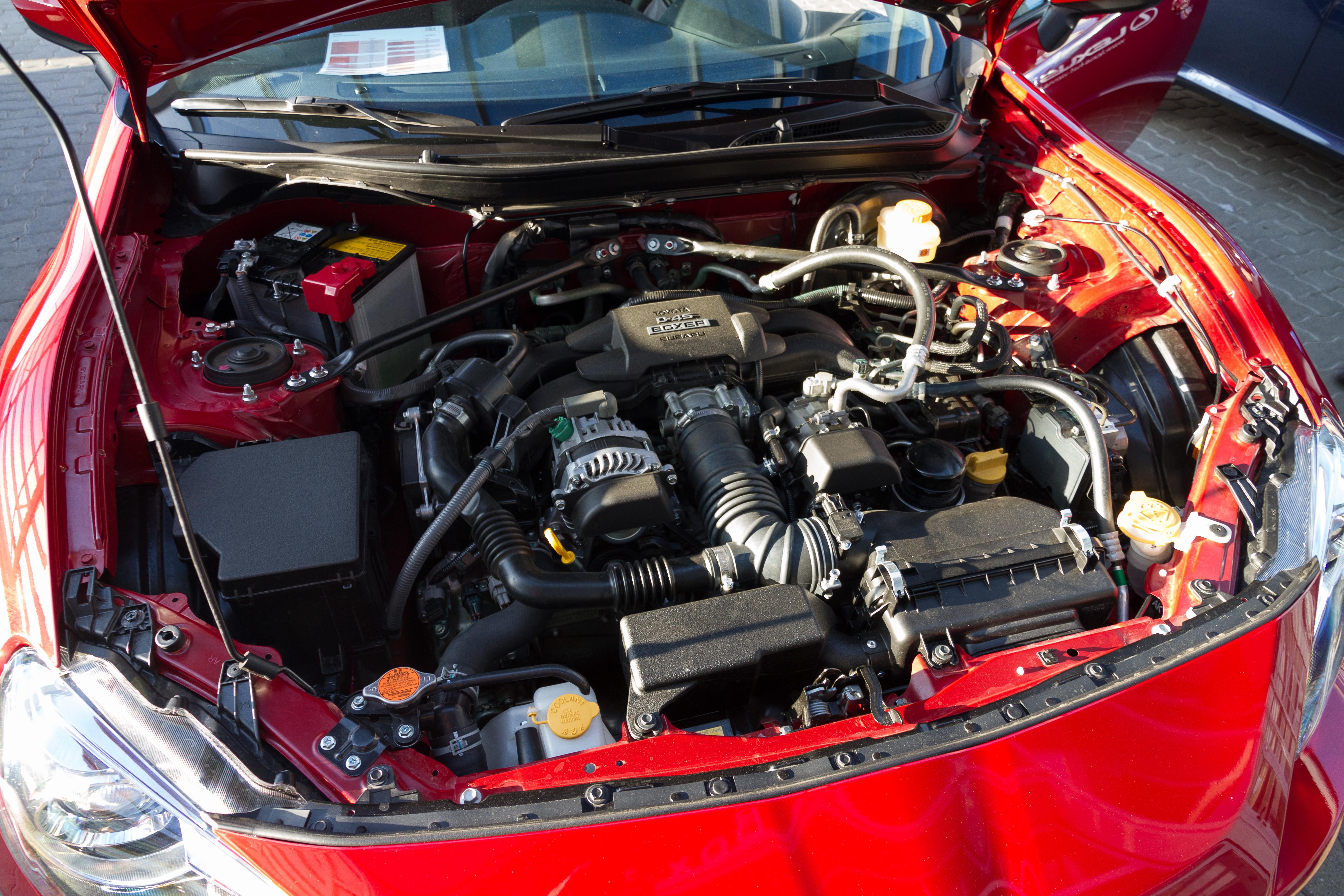 Toyota GT86 engine bay
