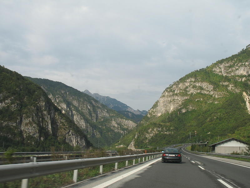 Just over the Italian border Kanaltal