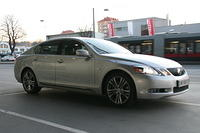 Being picked up by a Lexus GS450h after work is great!