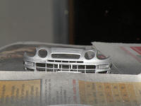 Painted front bumper