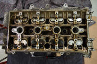 Top view of the cylinder head